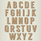 Vintage Style Alphabets Set Stock Photo