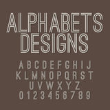 Vintage Style Alphabets Set Stock Photography