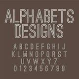 Vintage Style Alphabets Set Stock Photography
