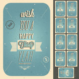 Vintage style anniversary design collection. Royalty Free Stock Photography
