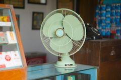 Vintage style antique electric fan retro style. Ancient Stock Photography
