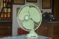 Vintage style antique electric fan retro style. Vintagen Royalty Free Stock Image