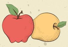 Vintage Style Apples Royalty Free Stock Photos