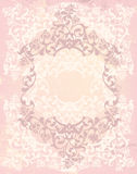 Vintage style background with floral roses frame Stock Photos
