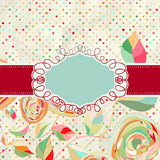 Vintage style background with flowers. EPS 8 Stock Images