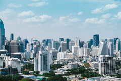 Vintage style of Bangkok cityscape in day time Royalty Free Stock Photography
