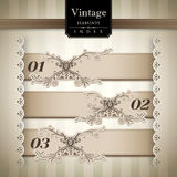 Vintage style Bar Graph. Element Royalty Free Stock Photo