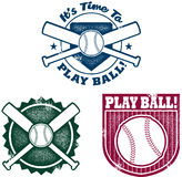 Vintage Style Baseball or Softball Graphics Royalty Free Stock Photos