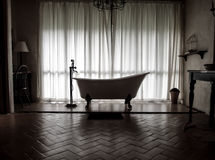Vintage style bathtub. Bathtub in a vintage style bathroom Stock Images