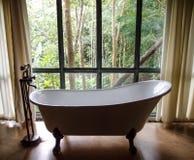 Vintage style bathtub. Bathtub in a vintage style bathroom Stock Photography