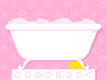 Vintage style bathtub with soapy bubbles Royalty Free Stock Photo