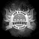 Vintage Style BBQ Barbecue Menu Stamp Stock Photography
