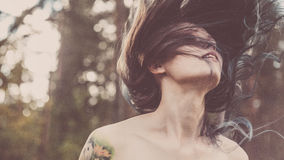 Vintage style Beauty Girl Royalty Free Stock Photography