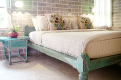 Vintage style bedroom Stock Photography