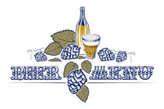 Vintage style beer list Royalty Free Stock Image