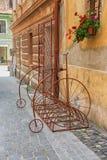 Vintage style bicycle bike rack. Stock Photos