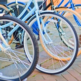 Vintage style bicycles Stock Photos