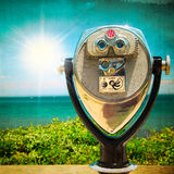 Vintage Style Binoculars at Sea Royalty Free Stock Images