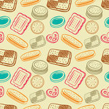 Biscuit pattern Royalty Free Stock Photos