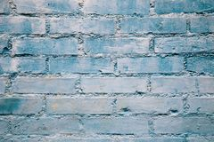 Blue brick wall background. Vintage style blue brick wall background Royalty Free Stock Photos