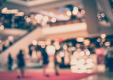 Vintage Style - blurred luxury building hallway in shopping mall Royalty Free Stock Photo
