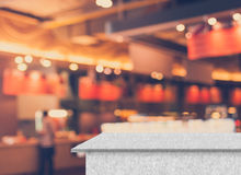 Vintage Style - blurred luxury restaurant in shopping mall with Stock Photos