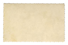 Vintage style brown old paper texture or background, with uneven torn edges Royalty Free Stock Photo