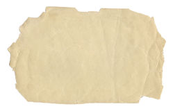 Vintage style brown old paper texture or background, with uneven torn edges royalty free stock photos
