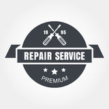 Vintage style car repair service label. Vector logo design templ Royalty Free Stock Photos