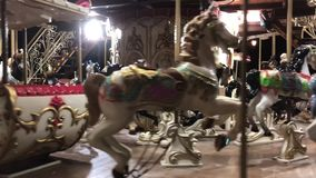 Vintage Style Carousel Or Roundabout stock video footage