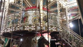 Vintage Style Carousel Or Roundabout stock video
