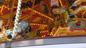 Vintage style carousel stops spinning stock video