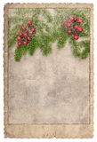 Vintage style christmas card Frame photos pictures Used paper Royalty Free Stock Photography
