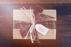 Vintage style Christmas Gift Stock Image