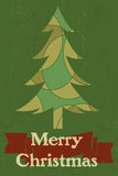 Vintage style Christmas graphic Royalty Free Stock Images