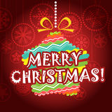 Vintage style Christmas greeting card Royalty Free Stock Image