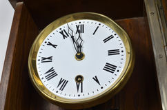 Vintage Style Clock. Clock in vintage style showing midnight or noon Royalty Free Stock Photo
