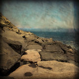 Vintage Style Coastal Rocks Royalty Free Stock Photo