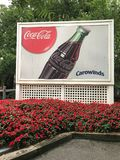 Vintage Style Coca Cola Sign at Carowinds in Charlotte, NC Stock Images