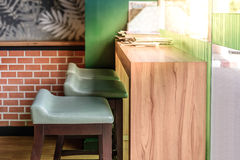 Vintage style coffee bar with sunlight Royalty Free Stock Photo