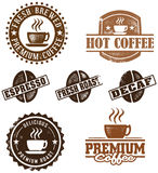 Vintage Style Coffee Stamps royalty free illustration