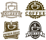 Vintage Style Coffee Stamps Royalty Free Stock Image