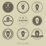 The vintage style of coffin business logo vector illustration