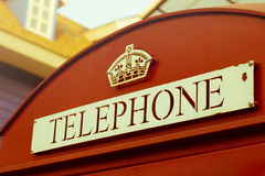 Vintage style color of British callbox. Stock Images