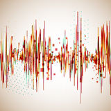 Vintage style colorful equalizer Royalty Free Stock Image