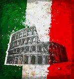Vintage style of Colosseum in Rome Royalty Free Stock Photo