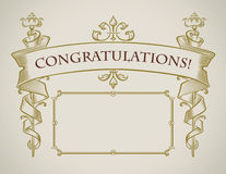 Vintage style congratulation card Royalty Free Stock Photo