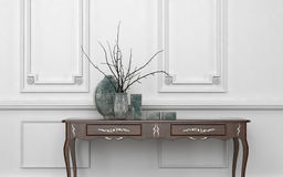 Vintage style console table in a classic room Royalty Free Stock Images