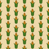 Vintage style corn seamless pattern royalty free stock photography