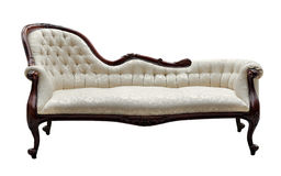 Vintage style couch isolated on white Royalty Free Stock Image